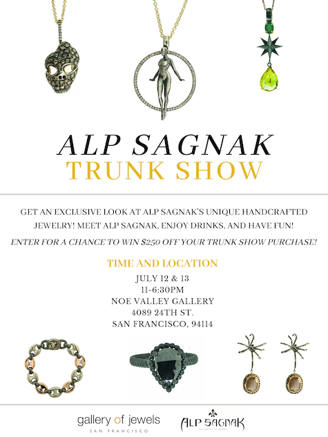 Your Are Invited: July 12 & 13! Alp Sagnak Trunk Show