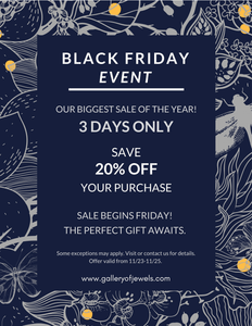 Black Friday Event! Our Biggest Sale of the Year!