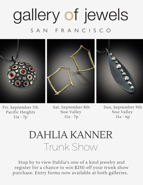 Upcoming Event: Dahlia Kanner Trunk Show