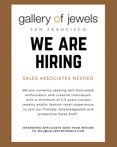 We're Hiring A Sales Associate