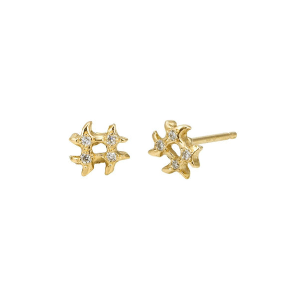 - gallery of jewels - Jaine K signature collection - Diamond Hashtag Stud Earrings
