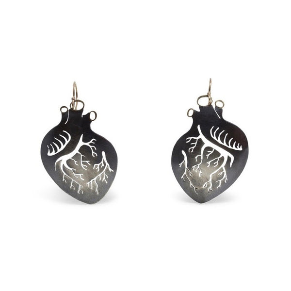 September Sale - 20% off sale - Luana Coonen - Beso Large Heart Earrings - gallery of jewels
