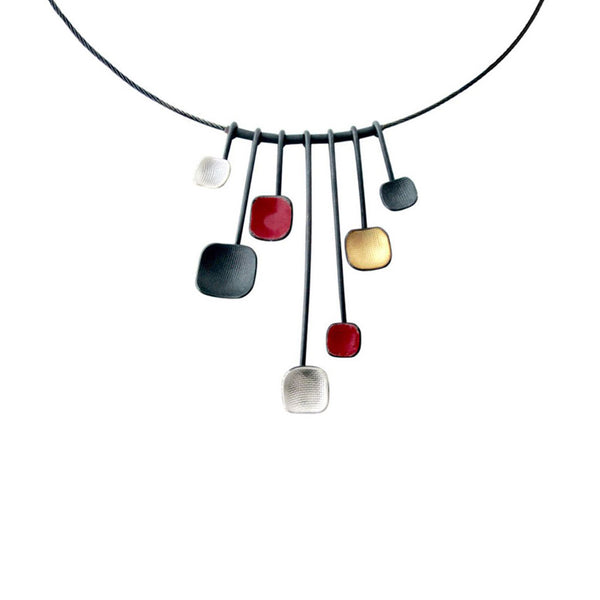 September Sale - 20% off sale - Owen Mcinerney - Multi Square Drop Necklace - gallery of jewels