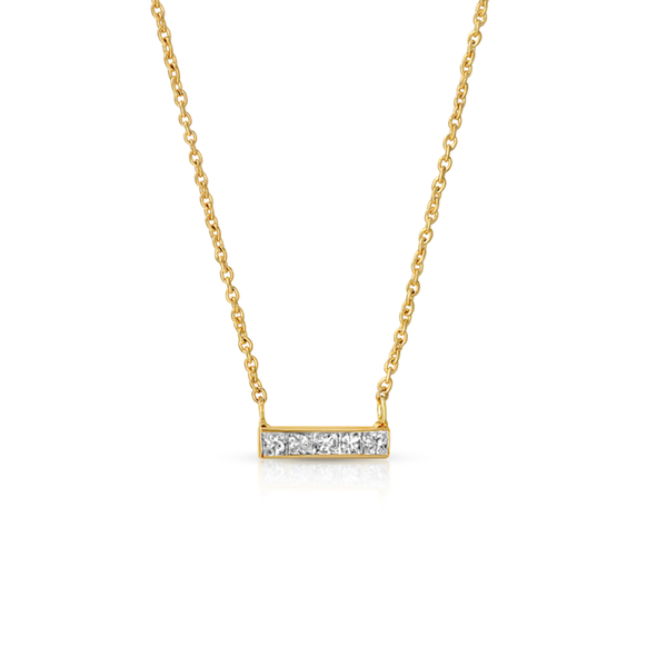 - gallery of jewels - hannah g jewelry collections - Mini Diamond Bar Necklace