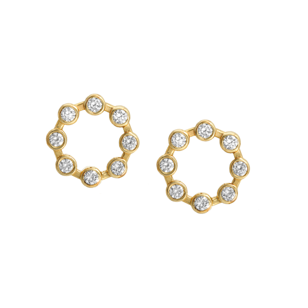 - gallery of jewels - hannah g jewelry collections - Small Circle Earrings
