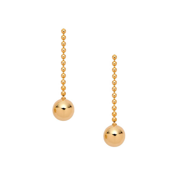 - gallery of jewels - hannah g jewelry collections - Gold Short Ball Drop Earrings