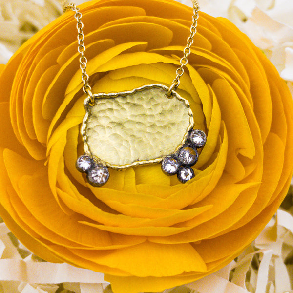 18k Yellow Gold, 14k White Gold, & Diamond Necklace. By: Todd Pownell TDPW1016 - gallery of jewels - mothers day gifts - mothers day jewelry