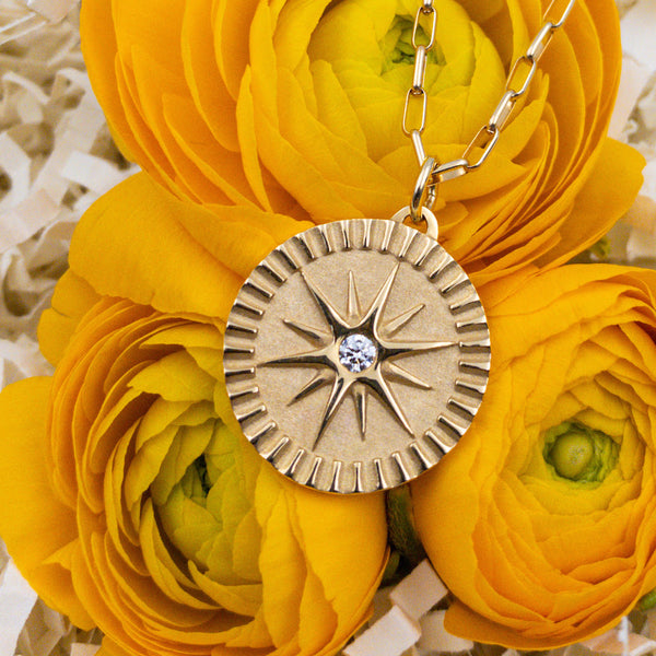 18k Yellow Gold & Diamond Necklace. By: Pamela Zamore PMZM1032 - gallery of jewels - mothers day gifts - mothers day jewelry