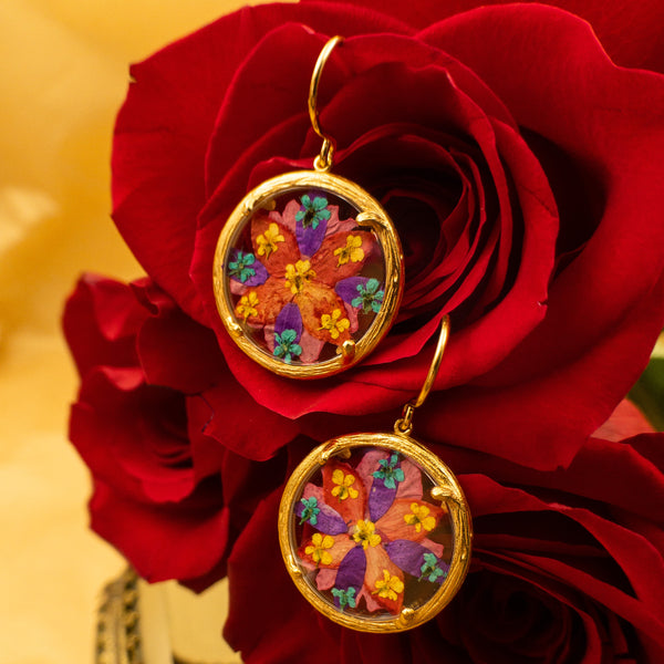 Catherine Weitzman - Catherine Weitzman jewelry - Catherine Weitzman flower bliss earrings - Valentines Day flower earrings - gallery of jewels - Valentines Day in San Francisco