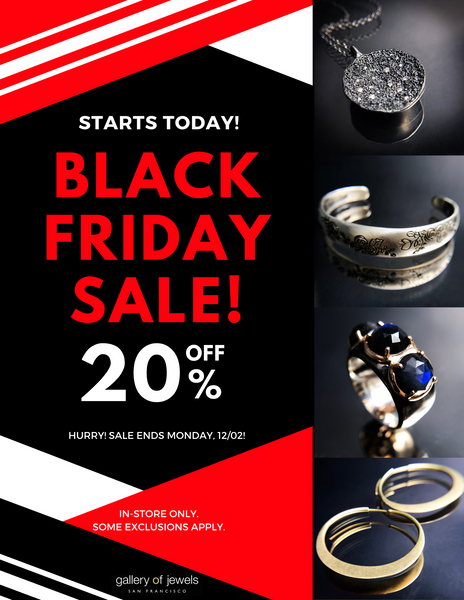 gallery of jewels sales - gallery of jewels black friday sale - gallery of jewels san fracnisco sales - black friday in san francisco - gallery of jewels fine jewelry saviings