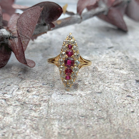 Dimitria Koumarnetos Ring - Ruby Diamond Ring - Gallery of Jewels - top san francisco jewelry shops
