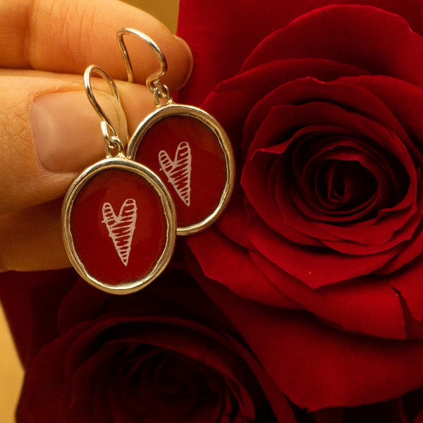 Mark Poulin - Mark Poulin jewelry - Mark Poulin earrings - Mark Poulin Heart Earrings - Heart Earrings - Valentines Day heart Earrings - Gallery of Jewels - Best Valentines Day Jewelry