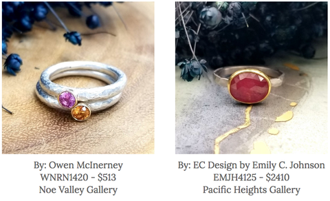 EC Design by Emily C Johnson jewelry - Owen McInerney - Gallery of Jewels - best handmade sapphire jewelry - sapphire september jewelry - sapphire rings - custom ring with sapphire