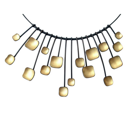 Sunburst Necklace - Owen McInerney - gallery of jewels - gold neck san fracnisco jewelry
