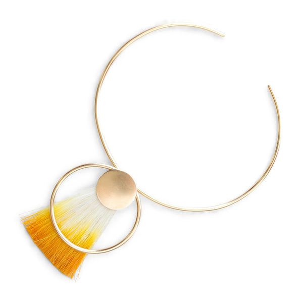 Ana Monet jewelry collection - Gold Sun Goddess Choker Necklace - gallery of jewels