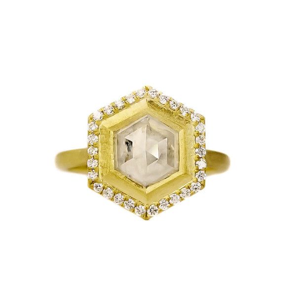 - gallery of jewels - samantha louise jewelry collections - Geo Hex Halo Ring