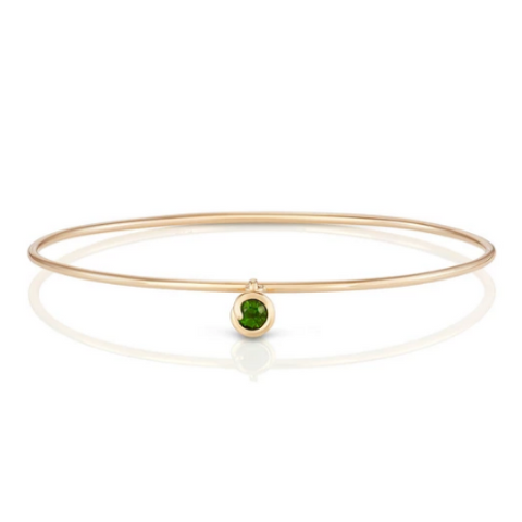 Scroll Charm Chrome Diopside Bracelet - S/H Koh - SH KOH jewelry - gallery of jewels - san francisco jewelry