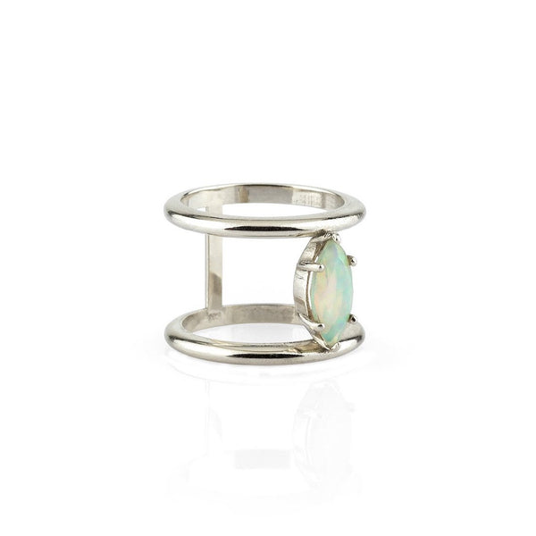 September Sale - 20% off sale - IO Collective White Gold & Opal Nova Ring - gallery of jewels