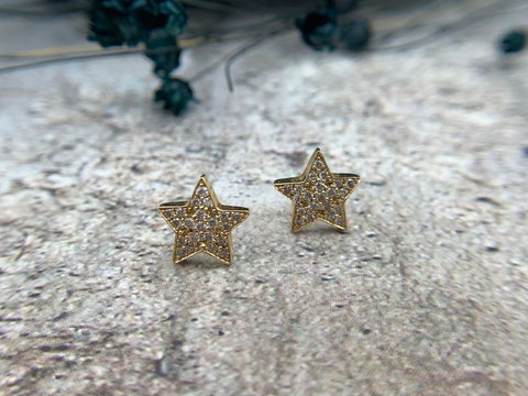 APRIL BIRTHSTONE - DIAMOND GEMSTONE - DIAMOND STAR EARRINGS - SAN FRANCISCO JEWELRY - GALLERY OF JEWELS