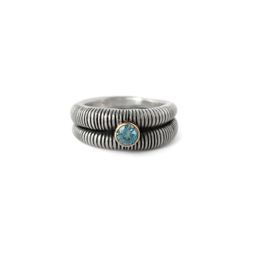 OWEN MCINERNEY -  Striped Blue Zircon Ring