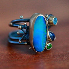 WENDY STAUFFER - Opal & Multi Gem Floral Ring