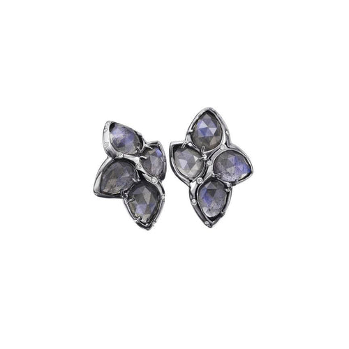 ALBERIAN & AULDE - Labradorite Cluster Earrings