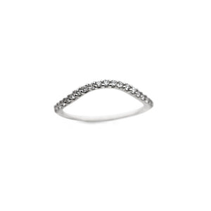 ALTANA MARIE - Curved Half Eternity Band w/ Diamonds