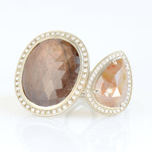 ANNE SPORTUN - One of a Kind Copper Taupe Pear Diamond Ring