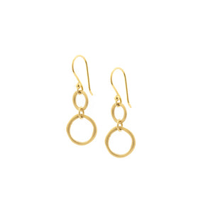 ANNE SPORTUN - Two Gold Ring Hook Earrings