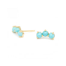 ANNE SPORTUN - Turquoise Trio Climber Earrings