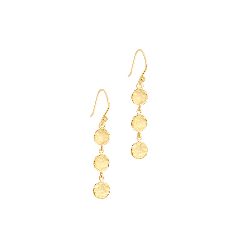 ANNE SPORTUN - Mini 3 Disc Earrings