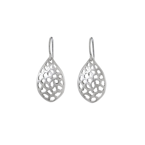 BRANCH - Small Lacy Leaf Earrings