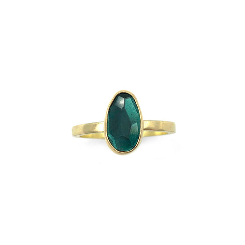 CLAUDIA BERMAN - Rosecut Green Tourmaline Ring