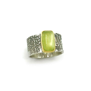 CLAUDIA BERMAN - Green Aquamarine Ring