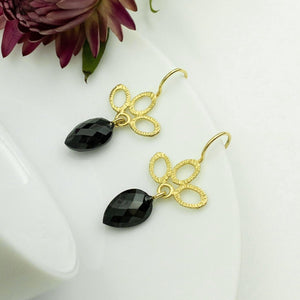 DAHLIA KANNER - Black Spinel Earrings