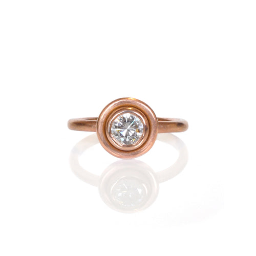 EC DESIGN - Saturn Bezel Diamond Ring