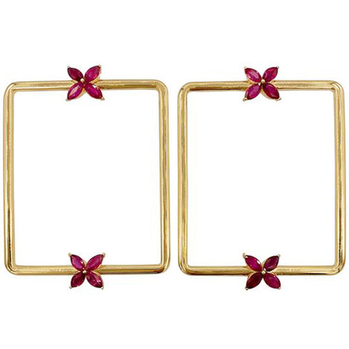 GEMMA COUTURE - Marquise Ruby Mariposa Earrings