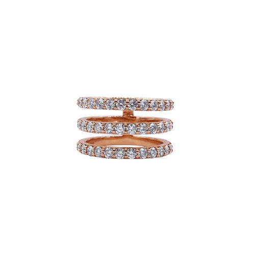 GEMMA COUTURE - Round White Diamond Luna Ring