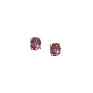 GEMMA COUTURE - Oval Sapphire Stud Earrings