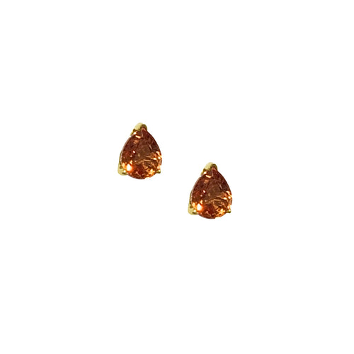 GEMMA COUTURE - Pearshape Sapphire Stud Earrings