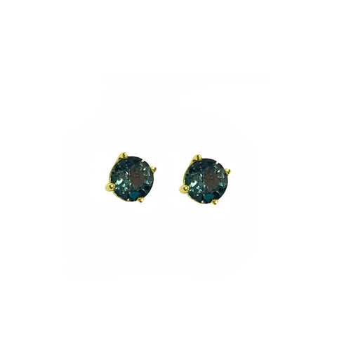 GEMMA COUTURE - Round Sapphire Stud Earrings