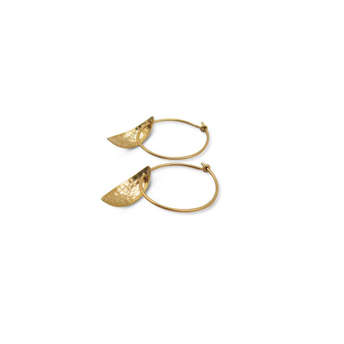 HILARY FINCK - Mini Leaf Earrings