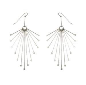 HILARY FINCK - Fringe Feather Earrings
