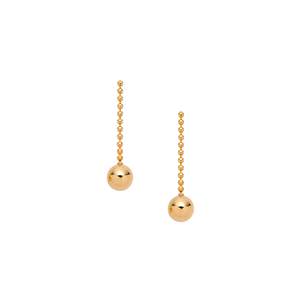HANNAH G - Gold Short Ball Drop Earrings