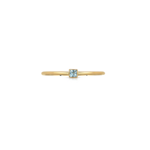 HANNAH G - Aquamarine Square Ring