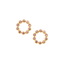 HANNAH G - Pink Sapphire Circle Earrings