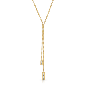 HANNAH G - Princess Cut Curb Chain Lariat