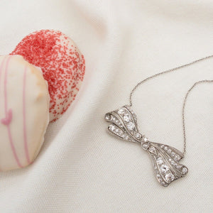 LOVE AND THE MAIDEN - Diamond Bow Necklace