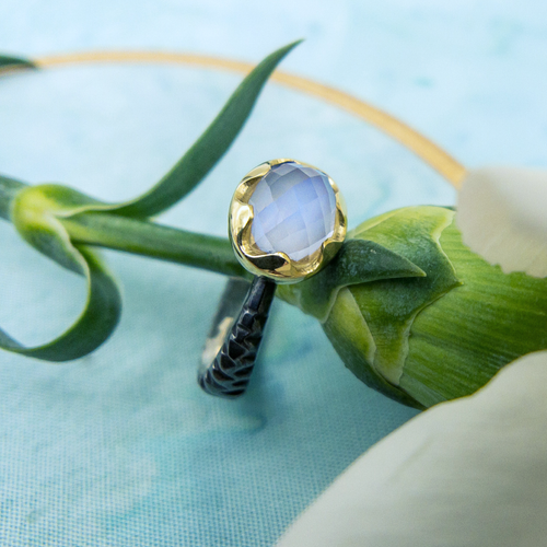 SVETLANA LAZAR - Moonstone Wishing Well Ring