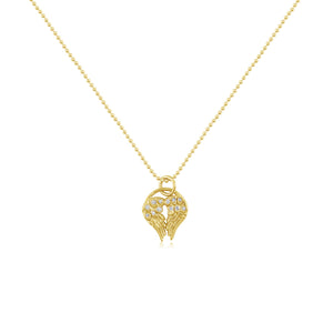 JOELY RAE - Heart Wing Diamond Necklace